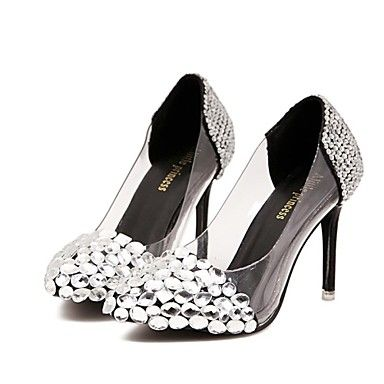 KADIN - Sivri Uçlu - İnce Topuk - Sentetik Pompalar / Topuklar ( Siyah/Gümüş/Altın ) – USD $ 59.99