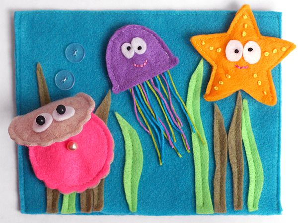 Ocean creatures finger puppets {great for traveling this summer or storytelling!}