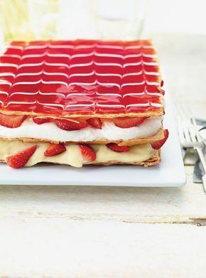 millefeuille aux fraises #millefeuille #dessert #fraises #ricardocuisine