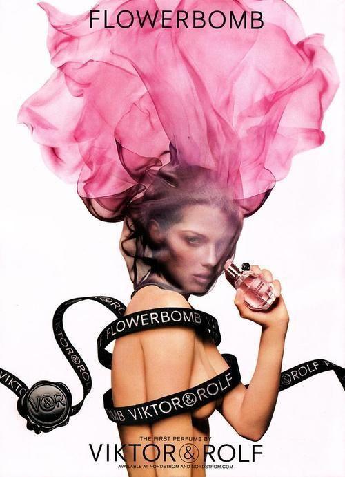 Viktor & Rolf Flowerbomb perfume advert, such a beautiful photograph