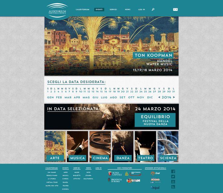 Web concept for Auditorium Parco della Musica Roma: goo.gl/JRb0ao