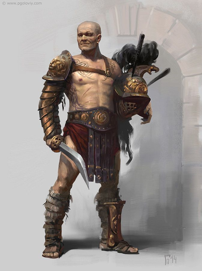 Pin by Ryan Seratt on character art | Roman gladiators ...