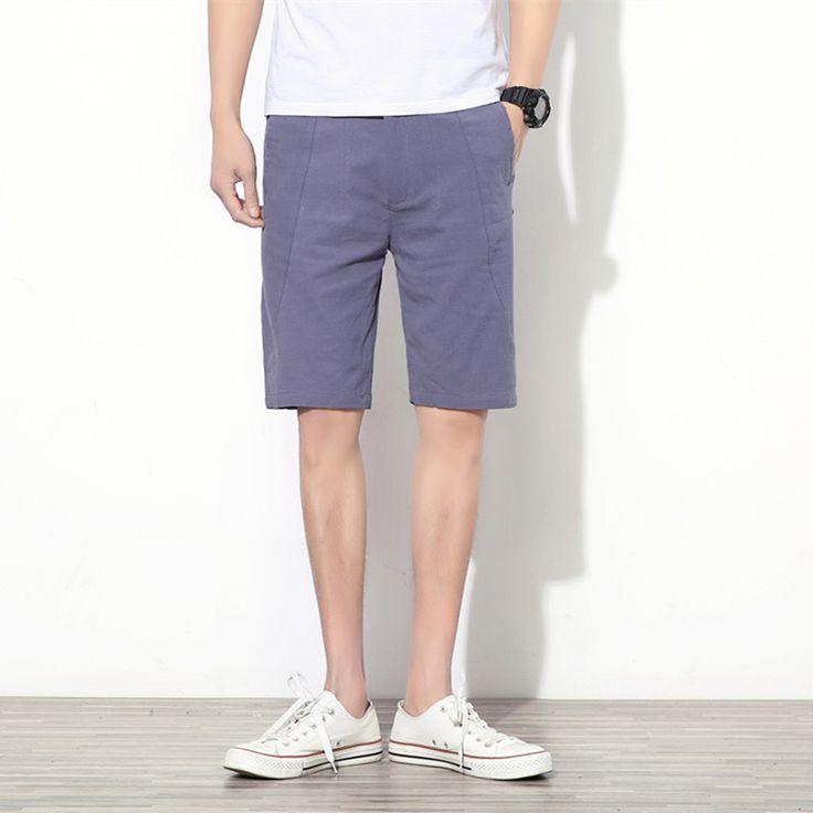 New Arrivals 2017 Summer Men's shorts Casual Cotton Linen Short Male clothing Mens Beach Shorts Bermudas Masculina de marca