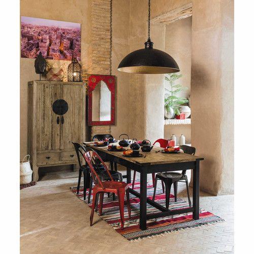 Tavolo per sala da pranzo in mango e metallo L 200 cm ALFRED