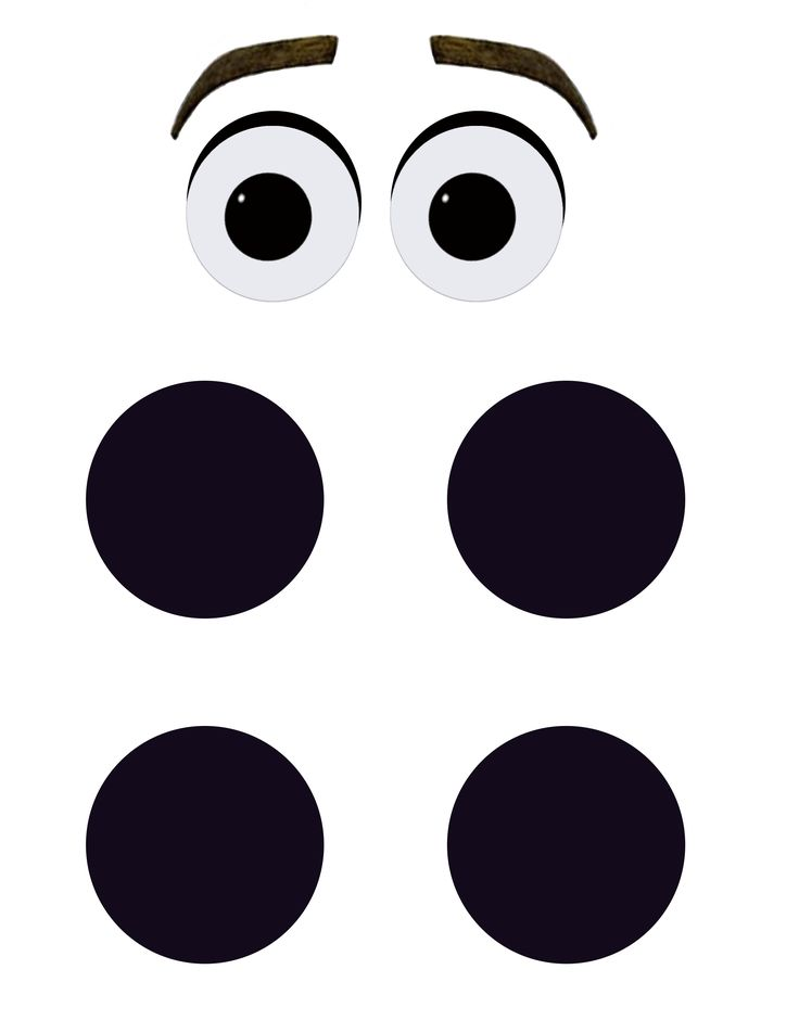 Printable Olaf Eyes and Buttons for DIY Halloween Costume or Party Decoration.
