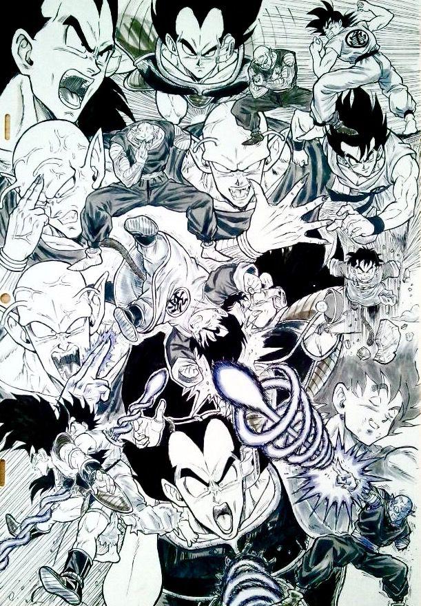 Amazing Dragon Ball Z fanart drawn by:  @dramani5958 #SonGokuKakarot