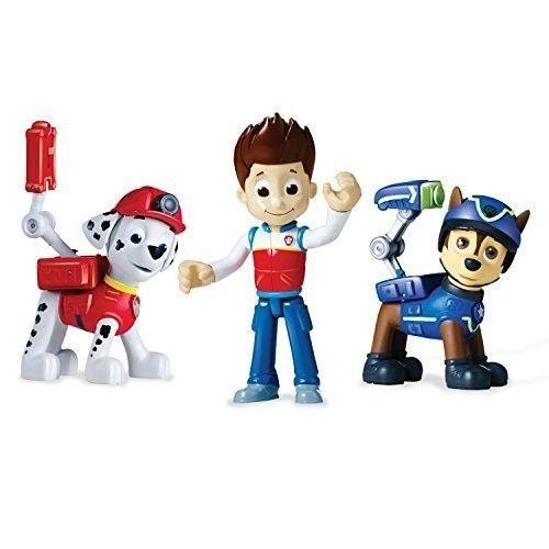 Paw Patrol Figure Set 3 Piece Action Pups Toys Kids Play Marshall Ryder Chase #PawPatrolFigureSet