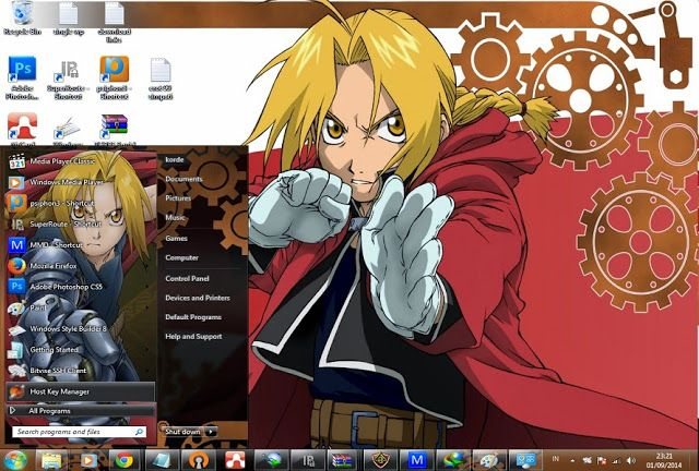 Windows theme Free Download themes windows // Tema // 7 // seven// FullMetal Alchemist // FullMetal Alchemist//skin//FullMetal Alchemist // Theme // win