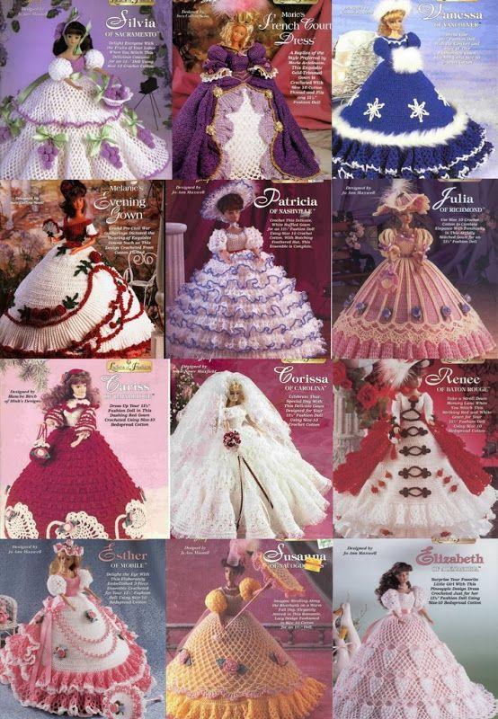 CROCHET, Barbie Dresses pattern http://knits4kids.com/collection-en/library/album-view?aid=8028