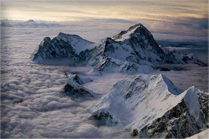 On the top of Mount Everest