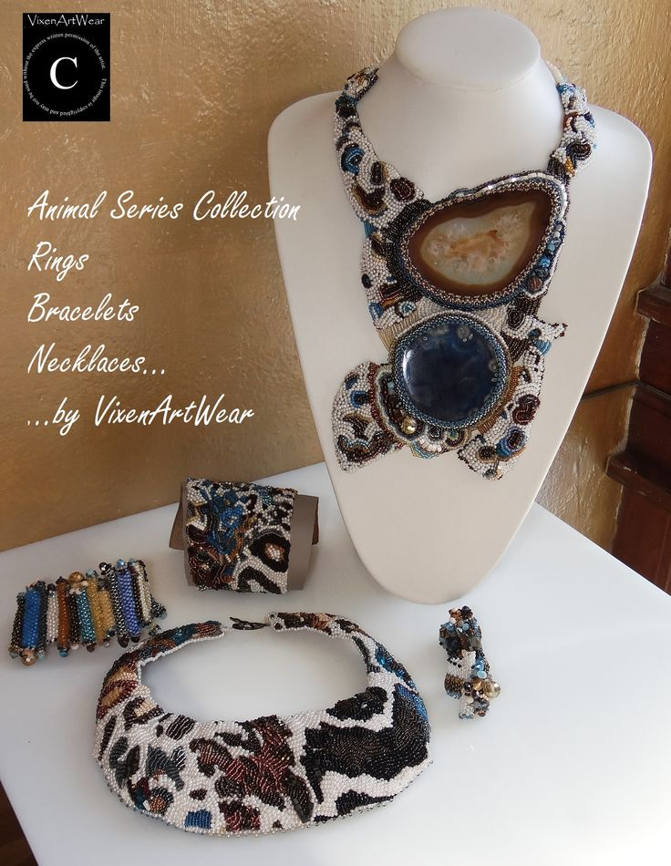 Animal Series Collection #Beaded #jewelry #VixenArtWear