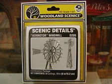 HO SCALE 1:87 WOODLAND SCENICS AERMOTOR WINDMILL MODEL KIT