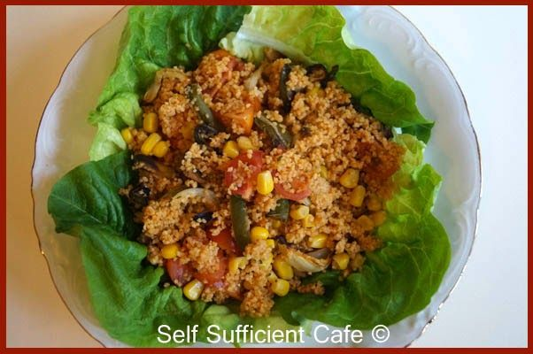 Self Sufficient Cafe: Roasted Vegetables and Couscous Salad