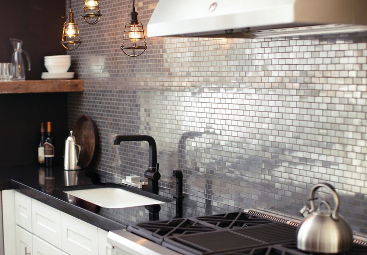 designmeetstyle:  Vintage industrial. Add shine and sophistication with an urban edge to your kitchen. Incorporate this style with bold deta...