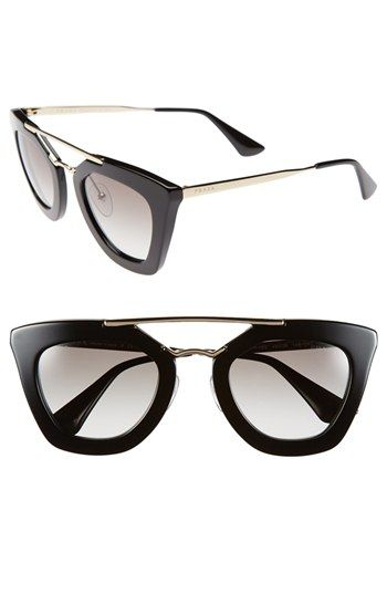 NEW- Prada -  49mm Retro Sunglasses / Buy it, Borderlinx will ship it to you.  http://www.borderlinx.com/