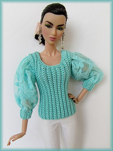 Aqua Puff Sleeve | cozycouturecrochet.com/ready-to-ship.html… | Jessica Hardman | Flickr