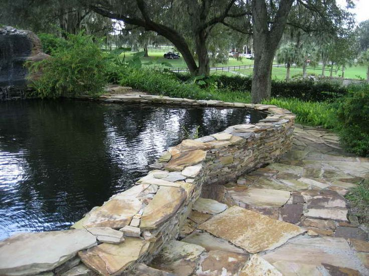 25 best ideas about large retaining wall blocks on for Cinder block pond ideas