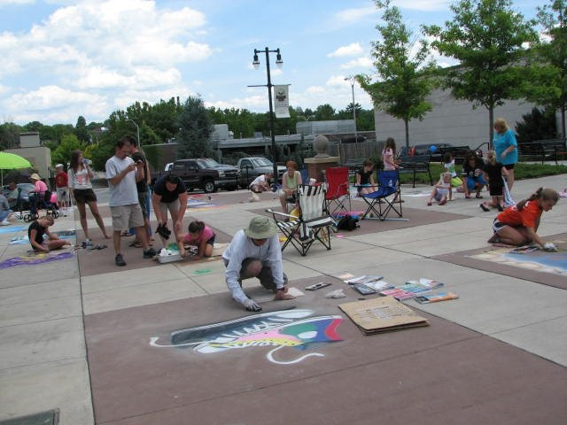 Chalk the Walk event in Maryville, TN.