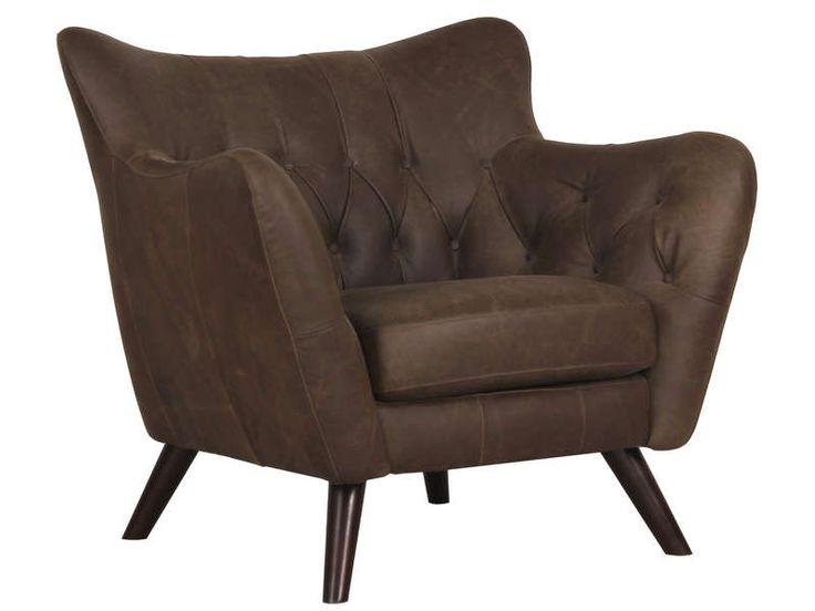 fauteuil cuir romance coloris marron meubles pas cher pinterest fauteuil conforama. Black Bedroom Furniture Sets. Home Design Ideas
