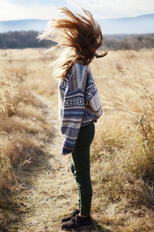 Sweater: knit aztec pattern skinny jeans shoes flat shoes oversized jumper tumblr hippie aztec