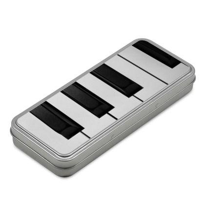 Scatolina in metallo a forma di tastiera pianoforte. Per gli amanti di questo strumento musicale.