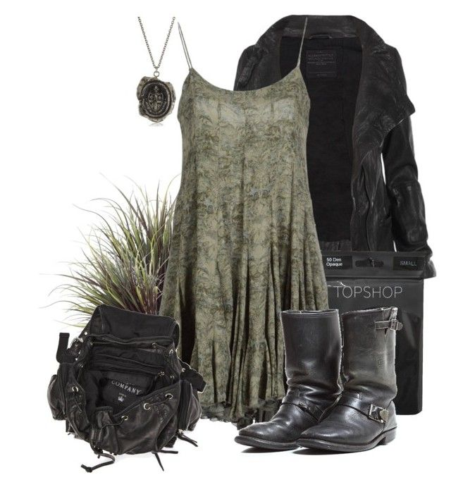 """Swamp Solstice"" by beyondthewallofsleep ❤ liked on Polyvore featuring AllSaints, Topshop, STELLA McCARTNEY, Pyrrha, Friis & Company, women's clothing, women, female, woman and misses"