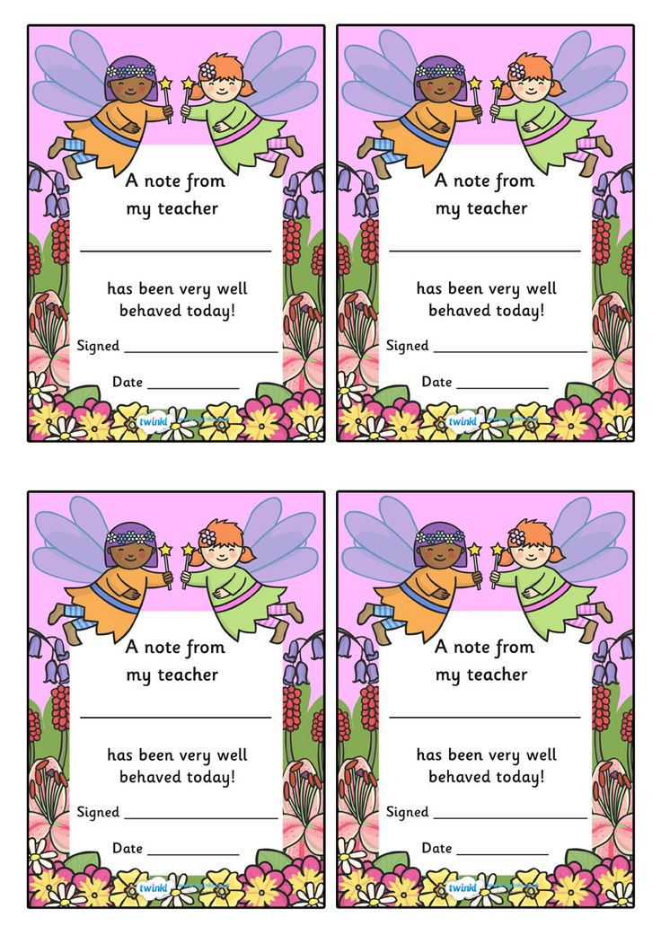 Twinkl Resources >> Note From Teacher Well Behaved Today Fairy Themed  >> Classroom printables for Pre-School, Kindergarten, Primary School and beyond! note from teacher, well behaved today, teachers note, good job, praise, printable, fairy themed