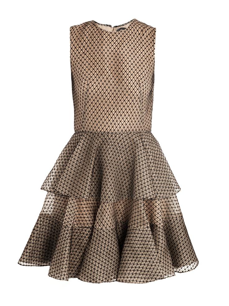 Alexander McQueen Dress - Beige and Black