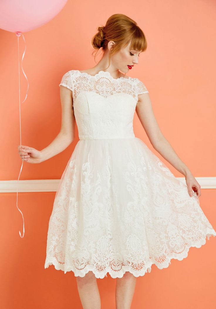 Exquisite Elegance Lace Dress in White