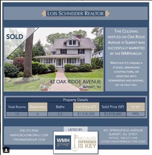 The WMH Group at Lois Schneider Realtor - Instagram Recap July 2017, The WMH Group at Lois Schneider Realtor, 431 Springfield Avenue, Summit, NJ, Office: 908.277.1398, DIRECT LINE: 908.376.9065, wmhgroup@lsrnj.com, thewmhgroup.com, Move to Summit New Jersey, Summit NJ Real Estate, Real Estate For Sale In Summit, Zillow, Trulia, For Sale, Buying A Home, Find Your Realtor In Summit, NJ, Oak Ridge Avenue, Summit, Colonial Home For Sale, Sold, Regina McAuley
