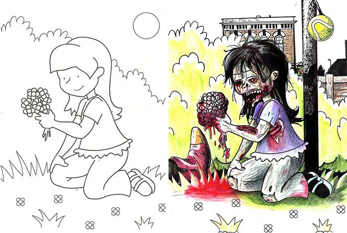 Heres What Happens When Demented Adults Do Kids Coloring Books And The Results Are Disturbing