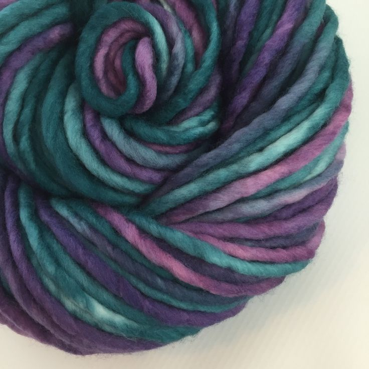 MERMAID DREADLOCKS ~ If mermaids had dreads, they'd look like this. ;-)  Super bulky merino wool with a 20.5 micron count ~ that is SO SOFT! I love these single ply skeins. #yarnbaby