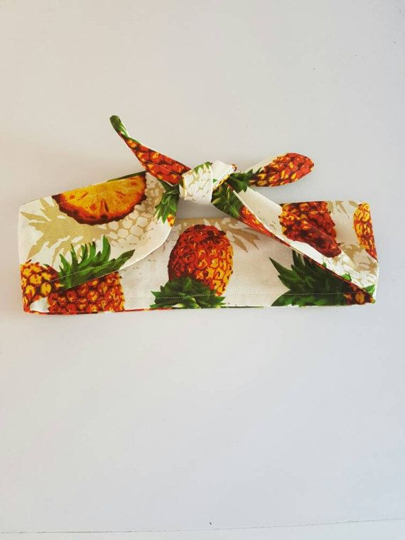 Check out this item in my Etsy shop https://www.etsy.com/au/listing/497308292/pineapple-headband-top-knot-headband-tie