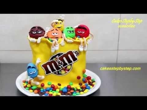 Торт M&M´s. Крутое мультяшное оформление