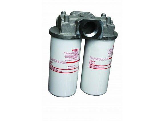 """302 LPM 2"""" BSP Twin element High Flow Fuel Filter"""