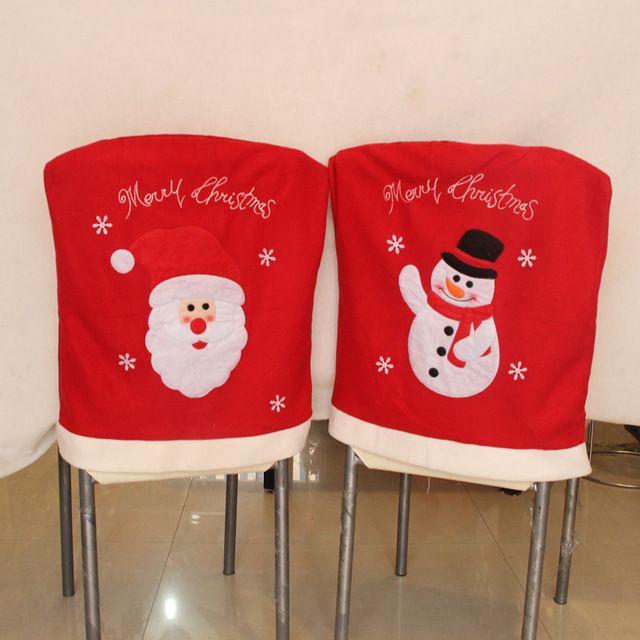 forros para sillas de comedor navideños con detalles