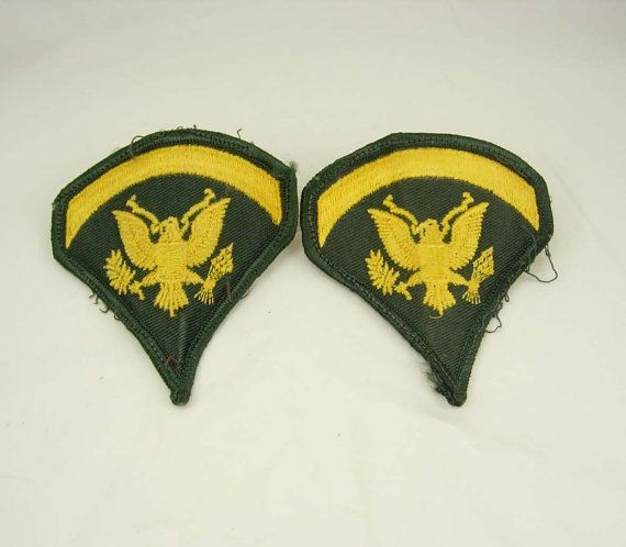 Vintage Specialist Rank Patch Destash E5 US by NeatstuffAntiques, $35.00