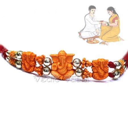 Buy Ganesh Rakhi on Raksha Bandhan for your brothers, Vedicvaani.com Send Rakhi to your brother in india or worldwide