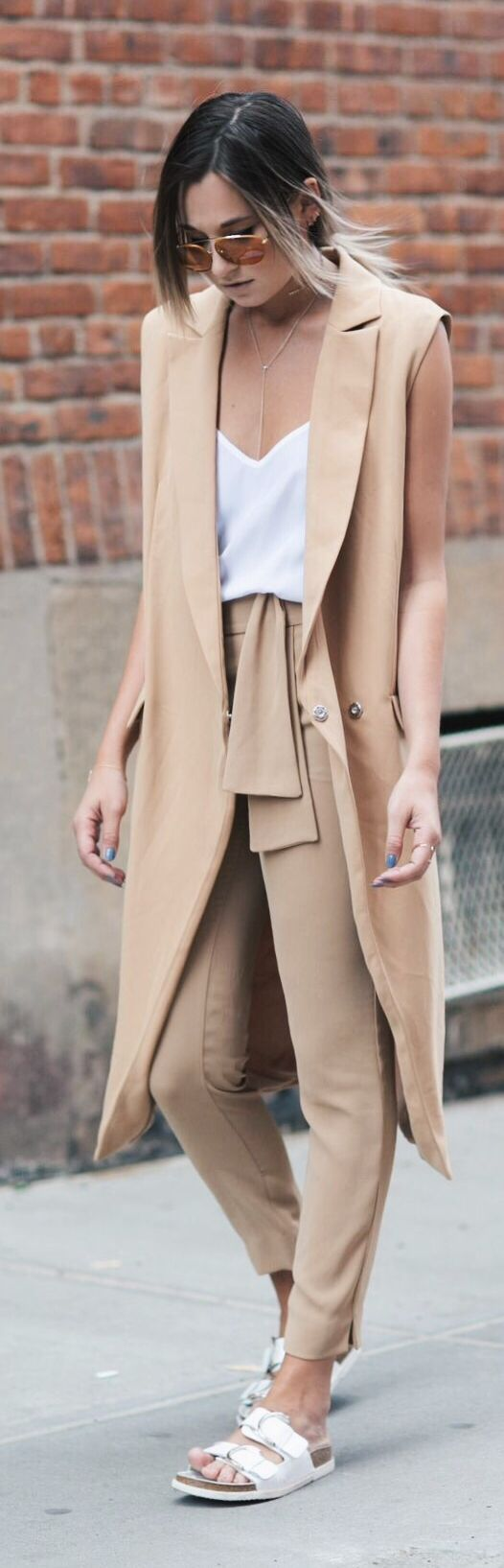 Camel And White Casual Chic Style by We Wore What