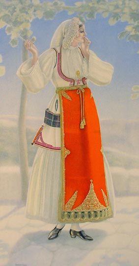 TRAVEL'IN GREECE I Woman's Costume (Desfina)