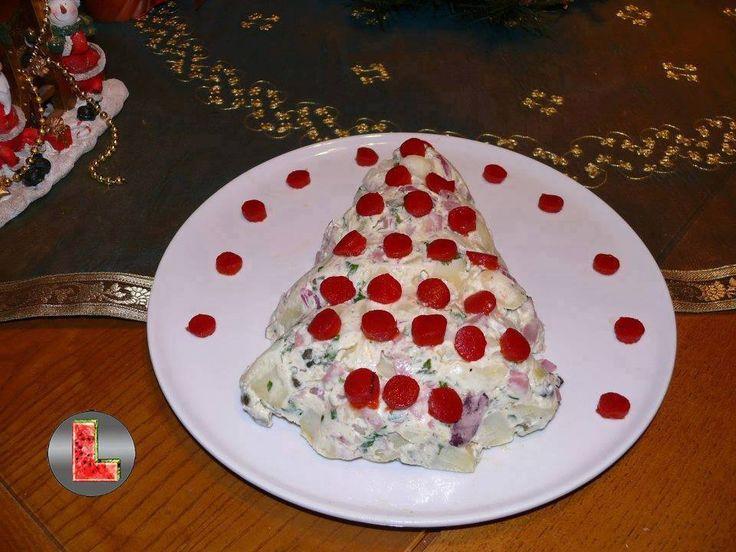 Υλικά που θα χρειαστείτε: 1 κιλο πατατες βρασμενες κομμενες σε κυβους 5 φρεσκα κρεμμυδακια ψιλοκομμενα 5 αγγουρακια τουρσι ψιλοκομμενα 10 ελιες ψιλοκομμενες 2 κσ καπαρη 1 zwan κομμενο σε κυβακια 1 κοκκινη πιπερια ψιλοκομμενη 10 ντοματακια cherry 1 δοση μαγιονεζα χωρις αυγα αλατι πιπερι μαιντανος ψιλοκομμενος κοκκινη πιπερια