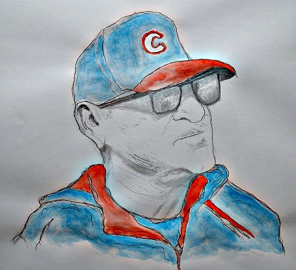 Manager of the Cubs Joe Maddon imagining a Cubs World Series win.