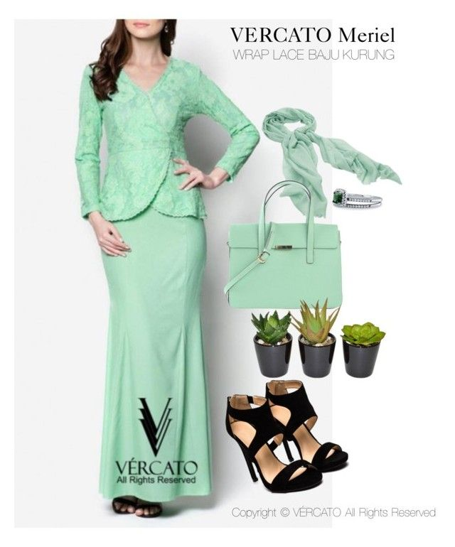 """""""VERCATO Meriel Baju Kurung Moden""""in mint green and also available in navy blue. SHOP NOW: http://www.vercato.com/VERCATO-MERIEL-WRAP-LACE-BAJU-KURUNG-MINT"""