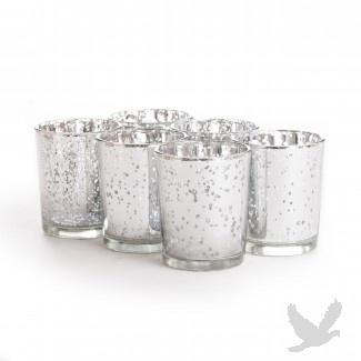 Antique Silver Votive Candle Holders (Bulk 36 Pieces = $2.25/ea)
