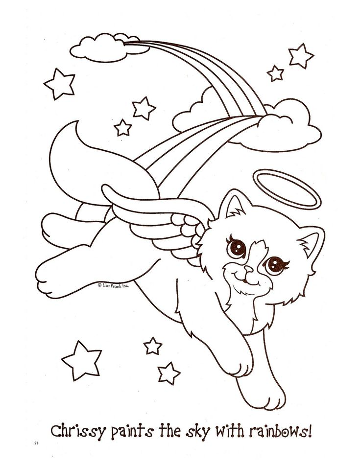 Lisa Frank Coloring Pages Offer Cute And Attractively Beautiful To Color By Kids Especially Girls