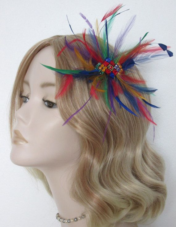 Multi-coloured-fascinator-biot-hackle