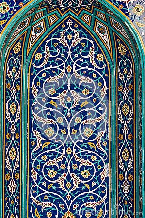 Middle eastern architecture mosaic tiles