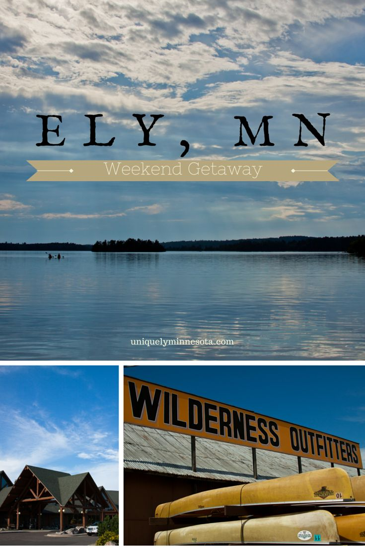 Plan a Minnesota weekend getaway to Ely, MN. On the edge of the Boundary Waters, Ely mixes outdoor adventure with shopping and fine dining. Plan a canoe trek or backpacking trip, or shopping in one of the local boutiques and galleries.