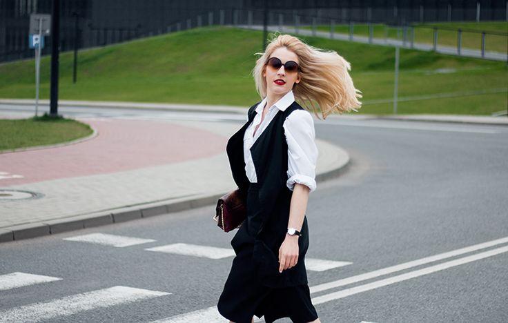 LOOK: Spodnie cullotes na co dzień + białe Air Max | Milena Bekalarska
