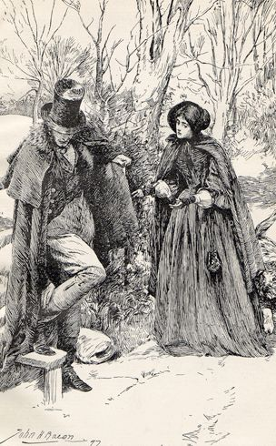 If you are hurt and want help, sir, I can fetch someone  -  Jane Eyre Illustrated: John H. Bacon